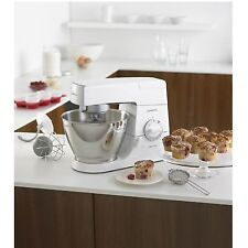 Kenwood KM337 Classic Chef Kitchen Mixer with 800W and 4.6L Capacity in White