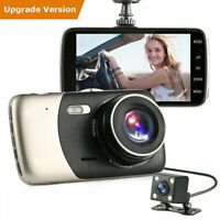 4'' HD 1080P Dual Lens Car DVR Front and Rear Camera Dash 170 Cam Video Rec R9S0