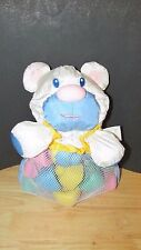Mega bloks Cuddly activity bear soft nylon plush w/ net vinyl baby blocks