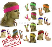 Sports Gym Yuga Disco Music Dance Tennis Terry Cotton Towelling Cloth Sweatbands