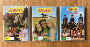 Saddle Club DVD LOT Storm, Saving Pine Hollow & Back in the Saddle + Poster PAL