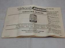 Vintage Tri-ang Railways Servicing Scheme Booklet ~ Eleventh Edition