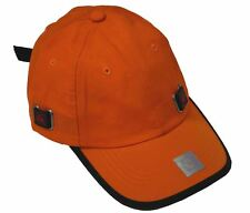 6 Panel Nylon Sports Safety Cap Adjustable Hat-orange