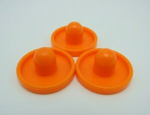 Tinkertoy 3 End Caps Orange Replacement Parts Plastic Tinker Toy Pieces