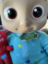 """Cocomelon JJ Doll 10"""" Plush Bedtime Singing Toy Youtube In Hand"""