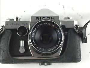 Vintage Singlex TLS Film Camera Auto Rikenon 1:2.8 f=55mm Lens Ricoh Japan