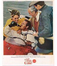 1965 Coca-Cola Coke Celebrating Race Win Sports Car Vtg Print Ad
