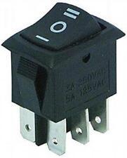 Wippenschalter Mini I-O-II 2 x Umschalter 6 Kontakte 2-polig 250V 3A 4758