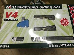 kato  20-863-1 N V4   SWITCHING SIDING  SET W/ELEC. TURNOUTS & TRACK