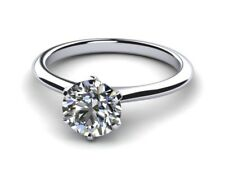 Certifed 1.30 ct D VS1 Round Diamond Wedding Engagement Solitaire Ring 18k Gold