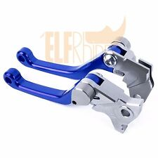 For Yamaha TTR125/LW/E 2005-2008 CNC Blue Pivot Dirt Bike Clutch Brake Levers