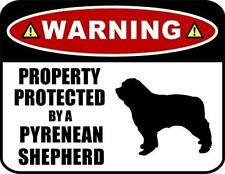 Warning Property Protected by a Pyrenean Shepherd (Silhouette) Dog Sign