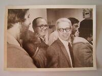 Vintage Glossy Press Photo Natick MA 3/6/? Marshall Lobowitz Leaves All Smiles