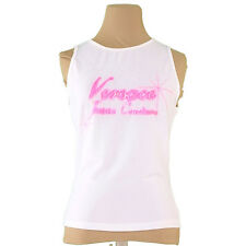 Versace Tank top White Pink Woman Authentic Used Q398