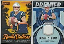 LOT Jarrett Stidham Patriots 2019 Panini Prizm & Playoff Rookie Jersey Relic RC