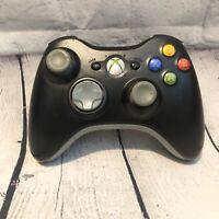 Genuine Microsoft Xbox 360 Black Wireless Remote Controller X817145-006 1403