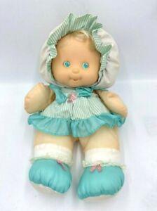 READ FLAW Fisher Price Puffalump Kid Teal Aqua Doll Plush Vintage 1991