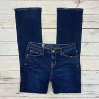 Mossimo Curvy Bootcut Jeans Size 6 Womens Dark Wash Stretch Denim