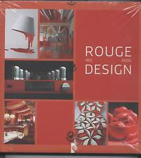 NEUF LIVRE ROUGE DESIGN SOUS BLISTER BOOK IN FRENCH ENGLISH  AND FLAMAND