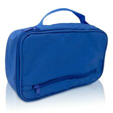 DALIX Travel Organizer in Royal Blue Bathroom Toiletry Pouch Bag Shaving Kit Bag