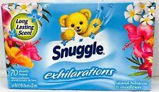 Snuggle Exhilarations Island Hibiscus & Rainflower Softener Dryer Sheets 70 ct
