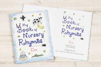 Personalised My Book of Nursery Rhymes Childrens Book Christmas Gift Softback