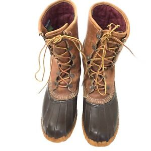 LL BEAN Boots Mens Size 10 Maine Hunting Boots Rubber Gore Tex Thinsulate