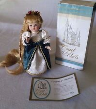 "Court of Dolls ""Rapunzel"" Limited Edition 10"" Porcelain Doll #895/5000 Coa"