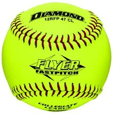 "Dozen 12"" Leather Cover Fastpitch Softballs Polyurethane Core Nfhs 12Rfp 47 Cl"