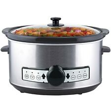Digital Stainless Steel Slow Cooker 3,5 Litre with keep warm function and timer
