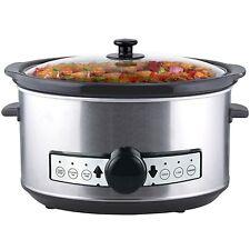 Digitaler Edelstahl Slow Cooker 3,5 Liter mit Warmhaltefunktion und Timer