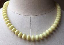 Yellow Vintage Plastic Bobble Bead Necklace/Retro 1970's/80's/Dolly/Short