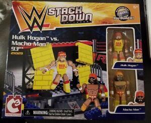 WWE Stackdown C3 Construction Hulk Hogan vs Randy Macho Man Savage Set 21029 NEW