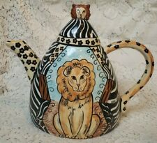 Nina's Ark Tea Pot lion animal print