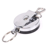 Resilience Steel Wire Rope Elastic Keychain Sporty Retractable Alarm Keychain JE