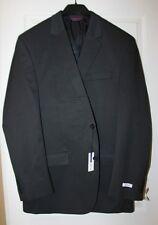 NWT Men's IZOD 2-Button Sportcoat/Blazer Black Pindot Striped- 46 Long