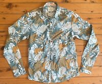 Scotch And Soda Mens Long Sleeve Summer Button Up Shirt Size Small VGC