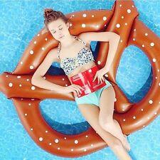 Swimming Tube Bagel Lounge Inflatable Float Adult Swim Ring Air Mat Pool Raft