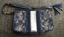 Coach 2182 Denim Blue Signature Demi Satchel Bag EXCLNT COND!