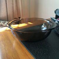 Small Brown Pyrex Casserole Dish