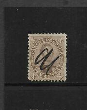 Canada Scott #17b used 10c brown 1859 Prince Albert, manuscript cancel f/vf