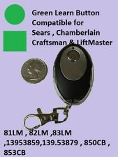 Sears Craftsman Garage Door Opener Key Chain Remote Control Green Learn Button