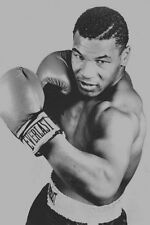 "Mike Tyson The Champion Boxer Boxing Silk Poster Vintage 24x36"" Black and White"