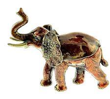 Large Royal Elephant Jewelry Trinket Box 1852 Decoration Bejewel Enameled Hinged