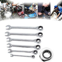 6mm-18mm Reversible Ratchet Wrench Ratcheting Socket Spanner Nut Tool New