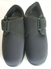 Orthofeet Witchita 825 Black Stretchable Diabetic Comfort Womens Sz 11.5 X -Wide