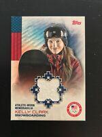 2012 Topps Olympic Kelly Clark Memorabilia Card #OR-KC