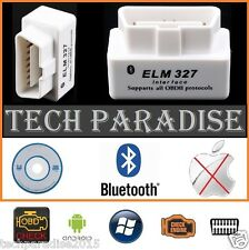 Interface Valise diagnostic diagnostique ELM327 HUD OBDII Bluetooth *Blanc* + CD