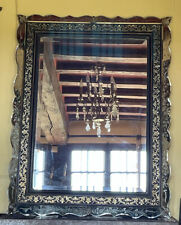 More details for stunning french antique cushion mirror, venetian mirrored border