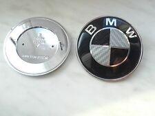 Emblème logo coffre 78mm carbone BMW E65 E66 E67 X5 E53 Z3 730d 51.15-1970248